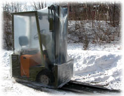 protect a lift truck